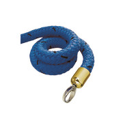stopper tex rope blue, connector brass-plated