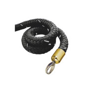 stopper tex rope black, connector brass-plated